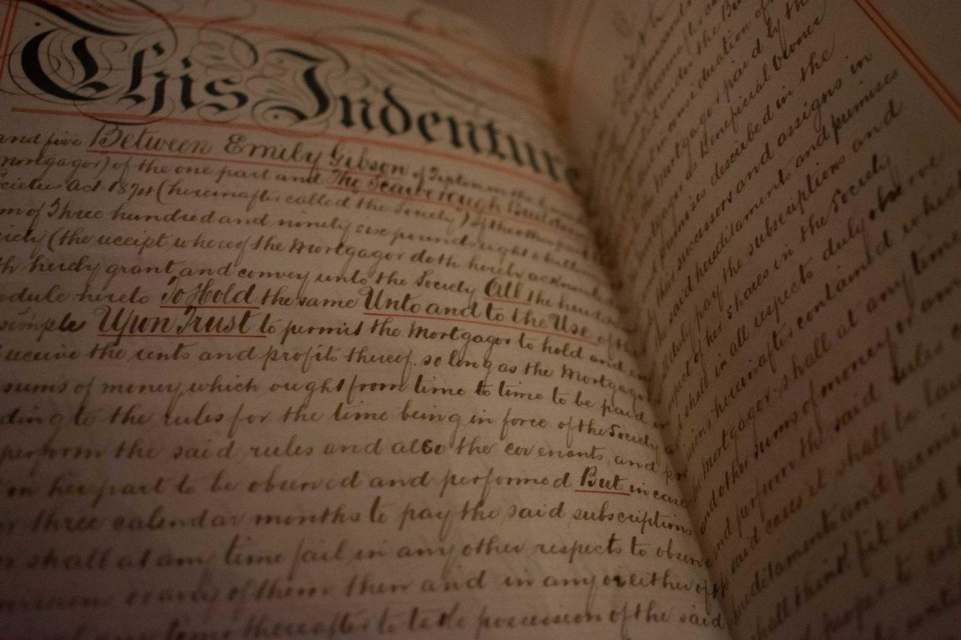 Leagle Document in Cursive Handwriting