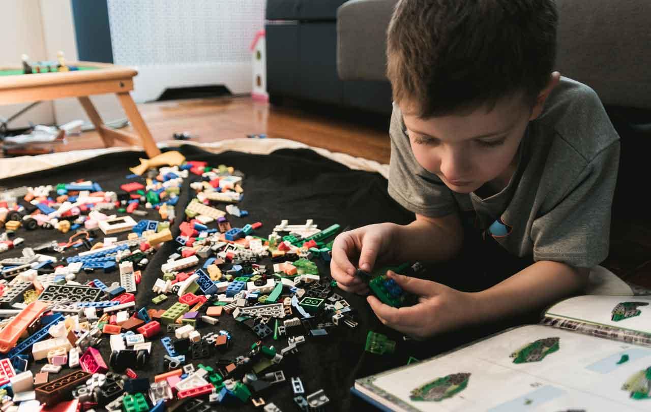 Boy Building Lego