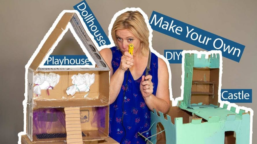 cardboard dollhouse and castle make your own