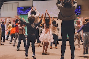 children doing actions to songs