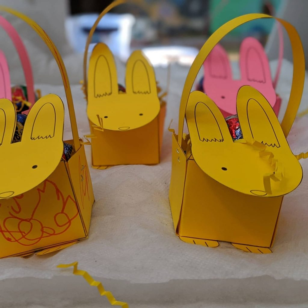 bunny baskets as gifts