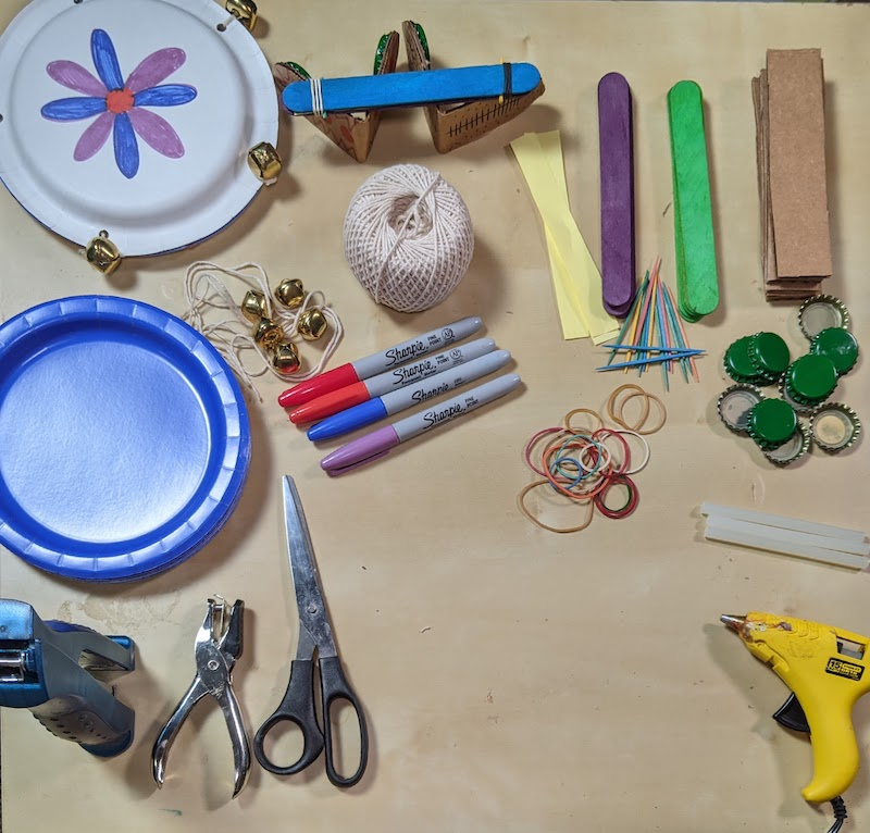 supplies for homemade musical instruments