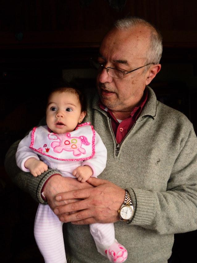 grandfather and grandbaby