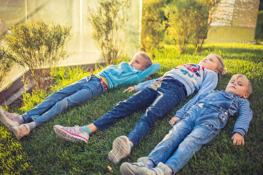 children laying down