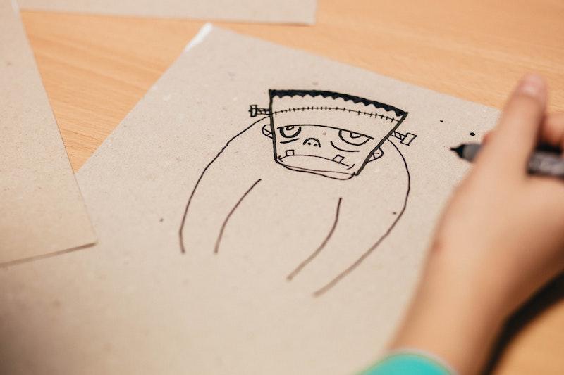 drawing sad face