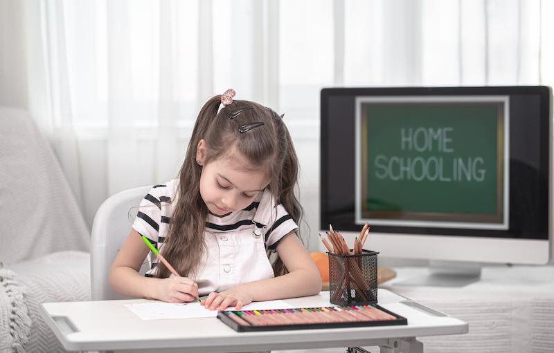 home school girl